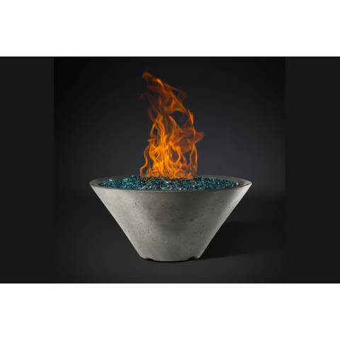 "Image of Slick Rock Concrete 34"" Ridgeline Conical Fire Bowl with Electronic Ignition KRL34CMNG"