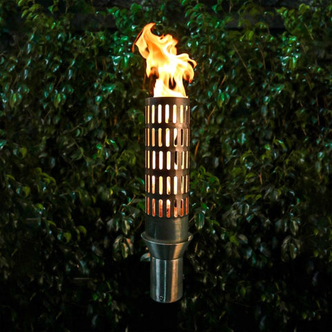 Image of The Outdoor Plus TOP-LITE Torch #4 - Stainless Steel OPT-TCH4SS