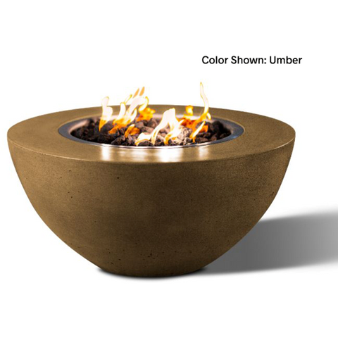 "Slick Rock Concrete 34"" Oasis Round Fire Bowl with Match Ignition KOF34MNG"