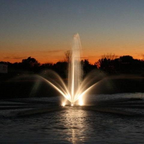 Image of Kasco Stainless Steel Housing 3 Fixture LED Fountain Light Kit