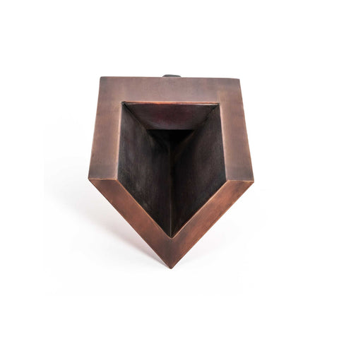 "Image of The Outdoor Plus V-Shaped Scupper 8"" - Copper OPT-WS8"