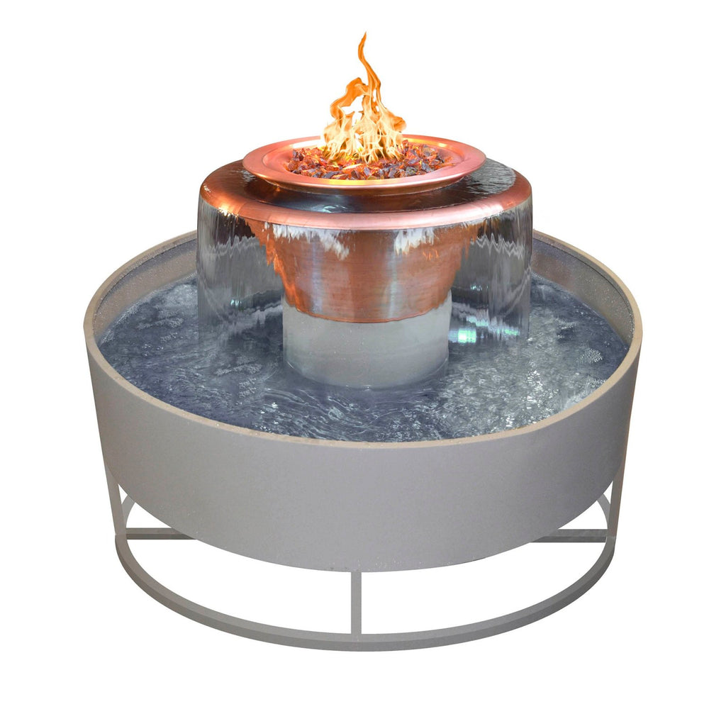 The Outdoor Plus Olympian - Round with 360° Spillway - Electronic Ignition OPT-OLY60EKIT
