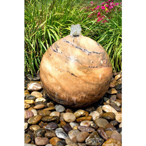 Blue Thumb 20″ Yellow Onyx Sphere Fountain ABART4420 - ProYardSupply
