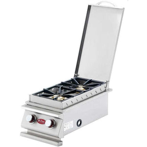 Cal Flame Deluxe Double Built-In Propane Gas Side Burner - BBQ19899P