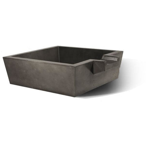 "Slick Rock Concrete 30"" Spill Box Water Bowl with Stainless Steel Spillway KSPB3010SPSS"