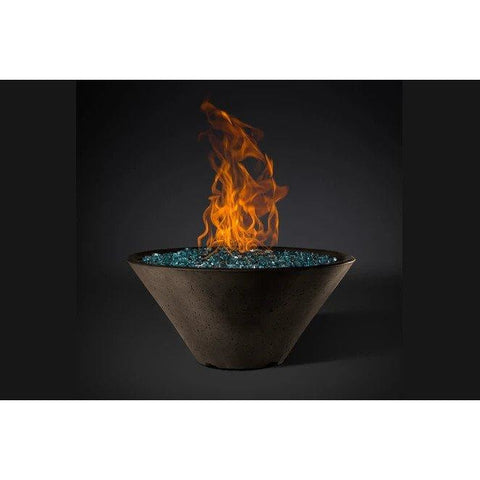 "Slick Rock Concrete 29"" Ridgeline Conical Fire Bowl with Match-Lit Ignition KRL29CMLP"