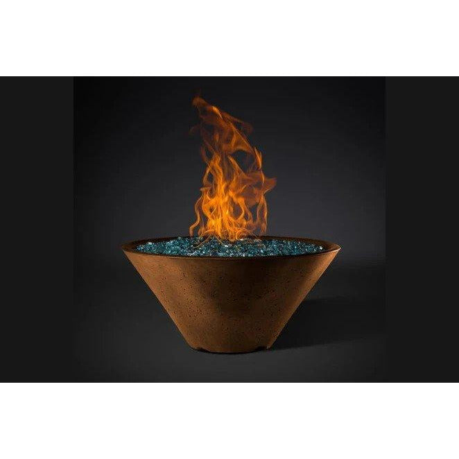 "Slick Rock Concrete 29"" Ridgeline Conical Fire Bowl with Electronic Ignition KRL29CEILP"