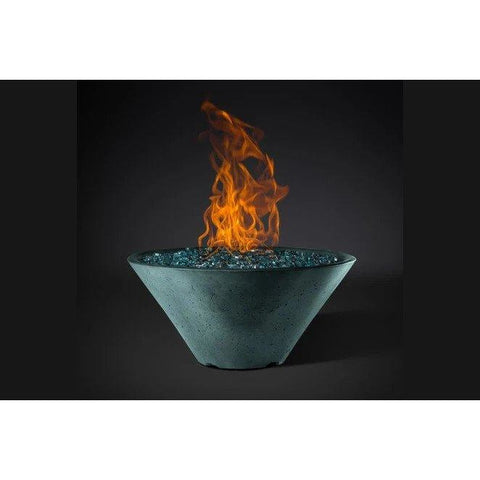 "Image of Slick Rock Concrete 22"" Ridgeline Conical Fire Bowl with Media Pan KRL22CBM"