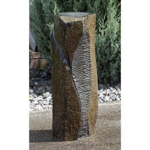 Blue Thumb Basalt Fountain Kit - Special Carving Swirl Cut ABBC925 - ProYardSupply
