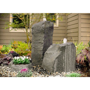 Blue Thumb Cascade Double Fountain with Accent Planter LA6100K - ProYardSupply