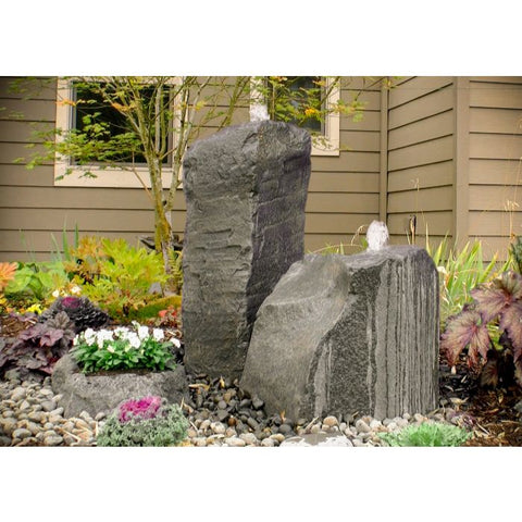 Image of Blue Thumb Cascade Double Fountain with Accent Planter LA6100K - ProYardSupply