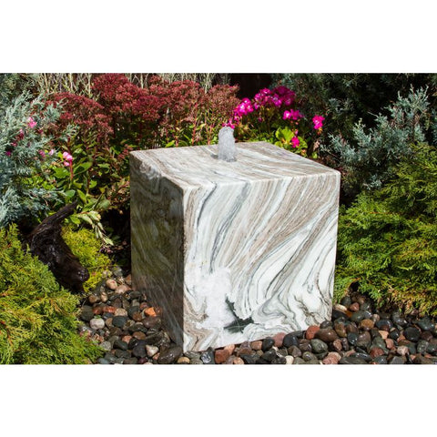 Image of Blue Thumb 16″ Glacier Marble Cube Fountain ABART16G - ProYardSupply