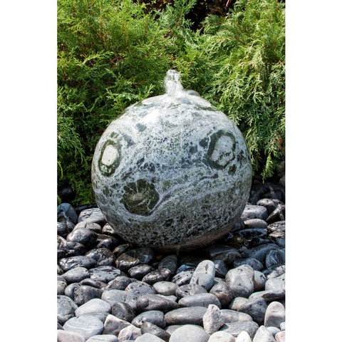 Image of Blue Thumb 20″ Green Marble Sphere Fountain ABART4120 - ProYardSupply