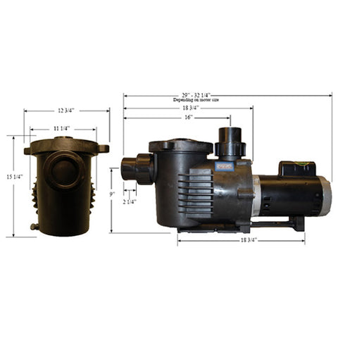PerformancePro 2 HP ArtesianPro High Flow Pump AP2-HF