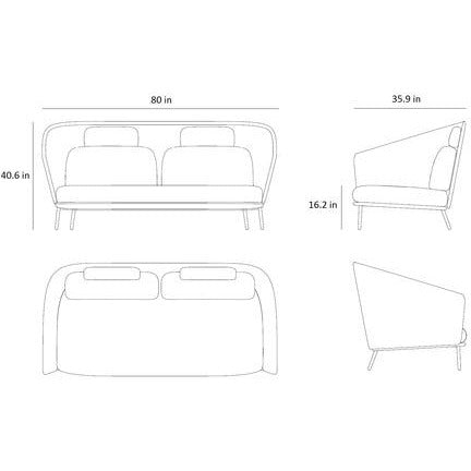 Image of Cane-line Mega 2 Seater Sofa - 55102LG
