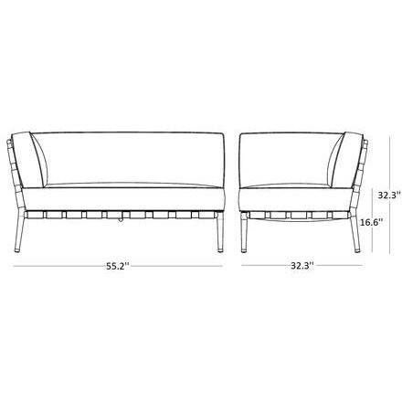 Image of Cane Line Conic 2 Seater Sofa Right Module 8534AITL