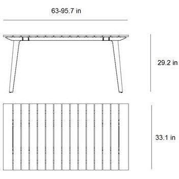 Image of Cane Line Copenhagen Extension Dining Table 11030TAL