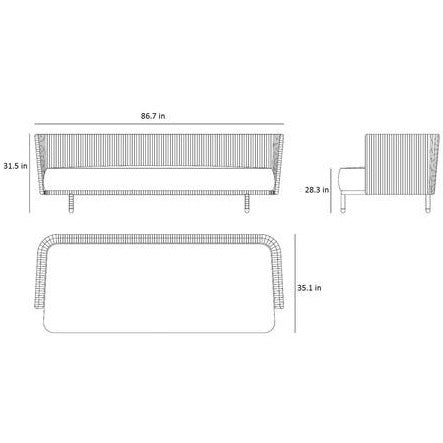 Image of Cane-line Outdoor Moments Aluminum Cushion Lounge Set - 7543ROG