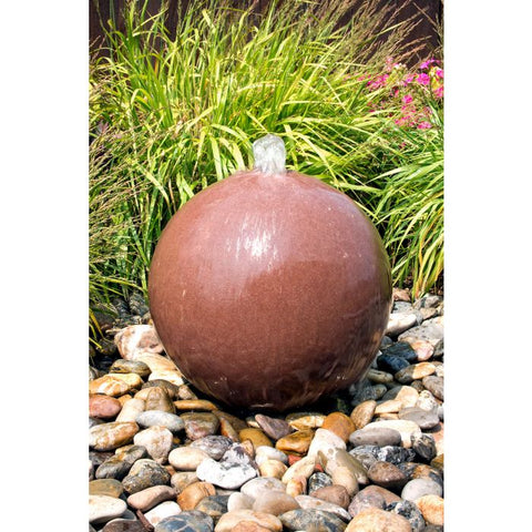 Blue Thumb 20″ Red Sandstone Sphere Fountain ABART4320 - ProYardSupply