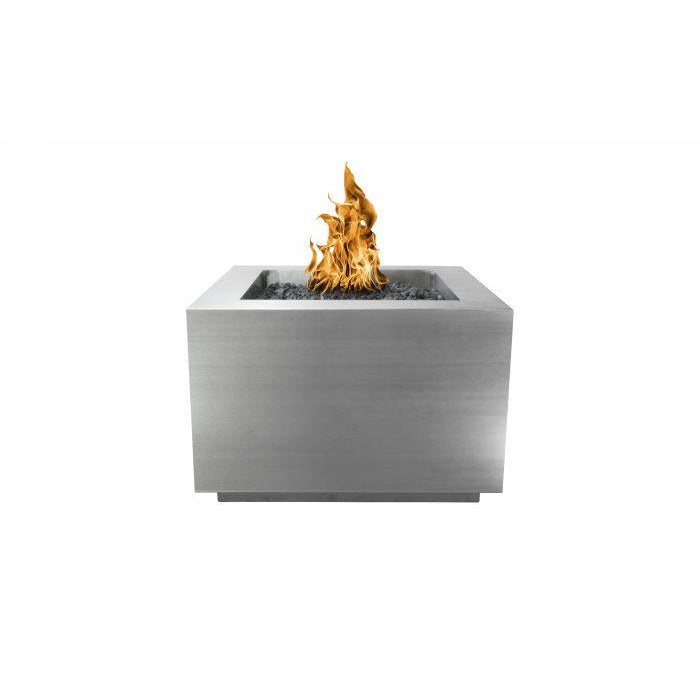 "The Outdoor Plus Form Fire Pit - Stainless Steel - Electronic Ignition 60"" OPT-6060SQSSEKIT"