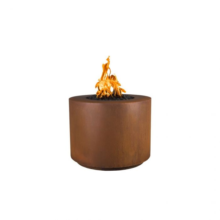 "The Outdoor Plus Beverly Fire Pit - Corten Steel - Electronic Ignition 36"" OPT-36RRCSEKIT"