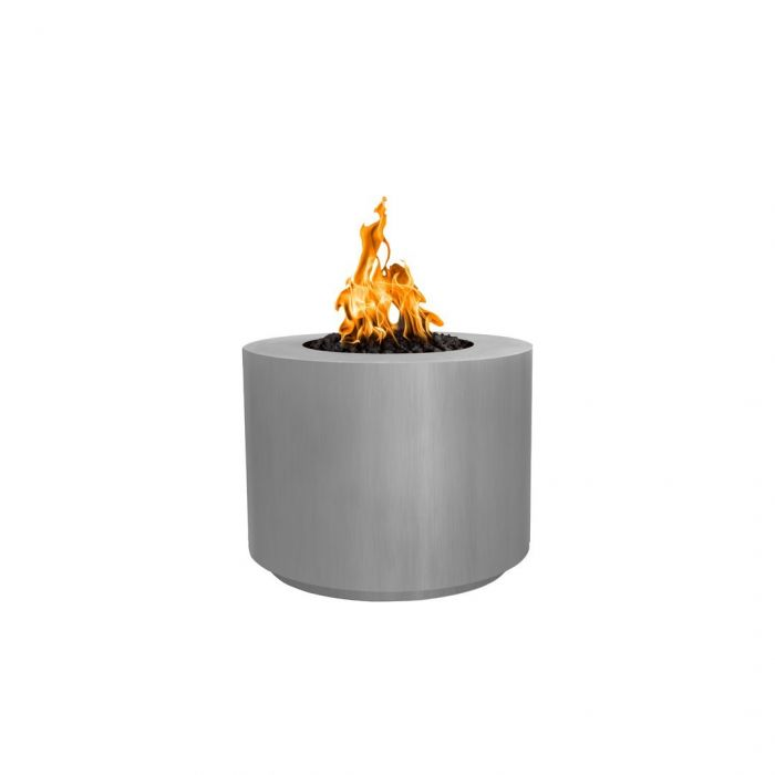 "The Outdoor Plus Beverly Fire Pit - Stainless Steel - Electronic Ignition 36"" OPT-36RRSSEKIT"