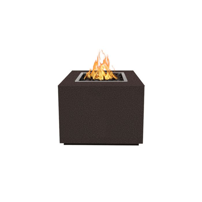 "The Outdoor Plus Form Fire Pit - Hammered Copper 60"" OPT-6060SQCPR"