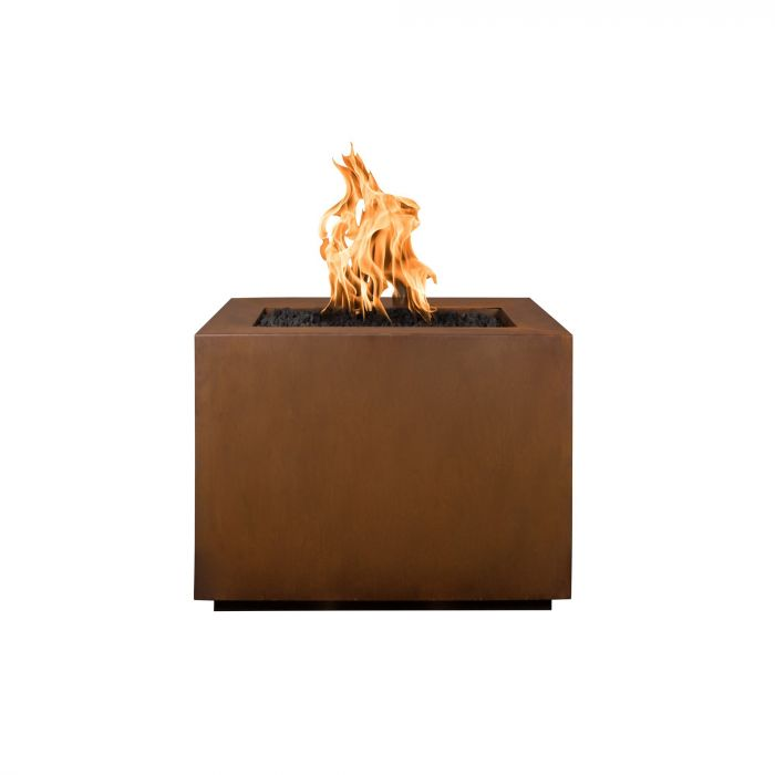 "The Outdoor Plus Form Fire Pit - Corten Steel - Electronic Ignition 60"" OPT-6060SQCSEKIT"