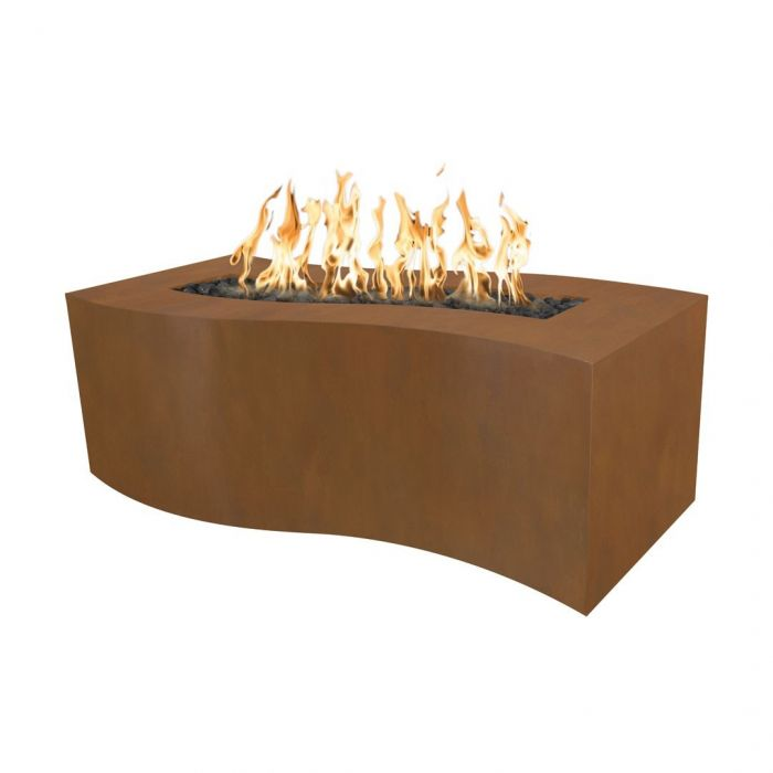 "The Outdoor Plus Billow Fire Pit - Corten Steel - Electronic Ignition 72"" OPT-BLWCS72EKIT"