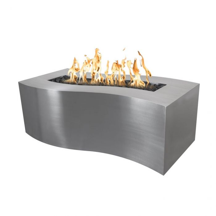 "The Outdoor Plus Billow Fire Pit - Stainless Steel - Electronic Ignition 72"" OPT-BLWSS72EKIT"