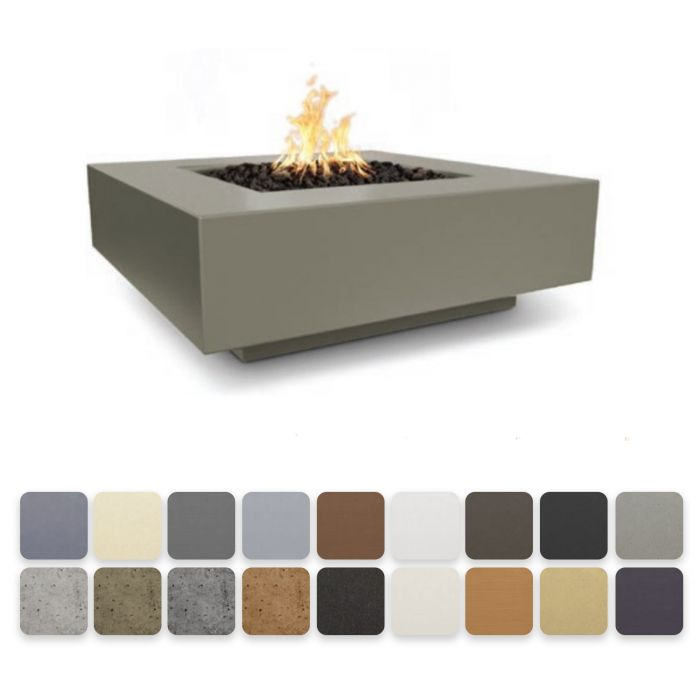 "The Outdoor Plus 36"" Cabo Square Fire Pit - Electronic Ignition OPT-CBSQ36EKIT"