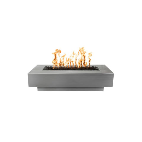"Image of The Outdoor Plus Coronado Fire Pit - Stainless Steel - Electronic Ignition 84"" OPT-CORSS84EKIT"