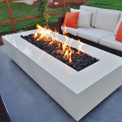 "Image of The Outdoor Plus Coronado Fire Pit - Corten Steel - Electronic Ignition 96"" OPT-CORCS96EKIT"