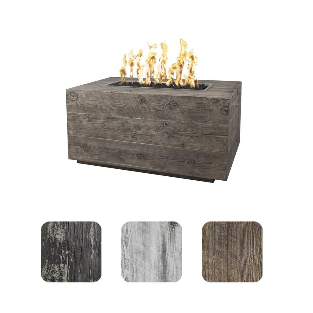 "The Outdoor Plus Catalina Wood Grain Fire Pit - 84"" - Electronic Ignition OPT-CTL84EKIT"