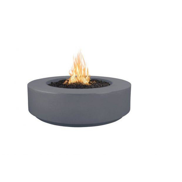 "The Outdoor Plus Florence Concrete Fire Pit - 72"" - Electronic Ignition OPT-FL72EKIT"