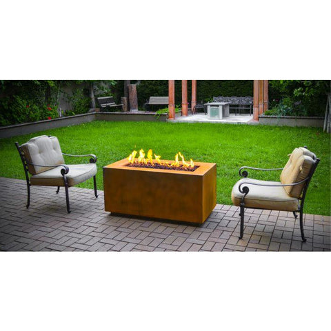 "Image of The Outdoor Plus Pismo Fire Pit - Corten Steel - Electronic Ignition 84"" OPT-R8424CSEKIT"
