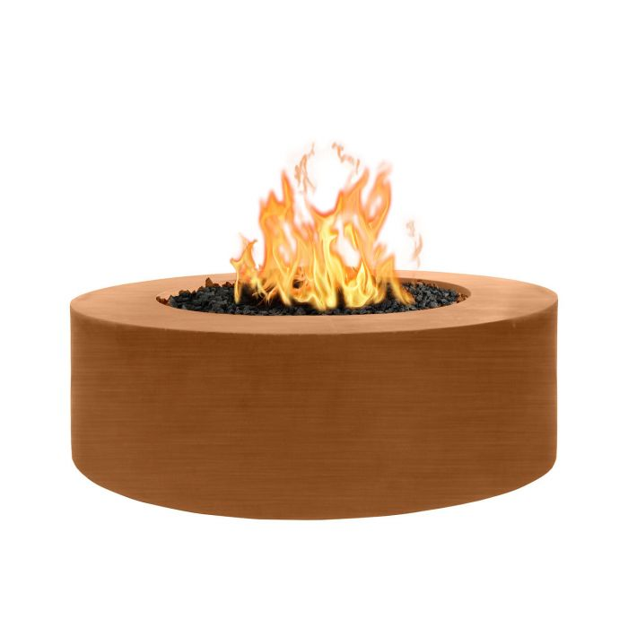 "The Outdoor Plus Unity Fire Pit - 18"" Tall - Hammered Copper - Electronic Ignition 72"" OPT-UNYCP7218EKIT"