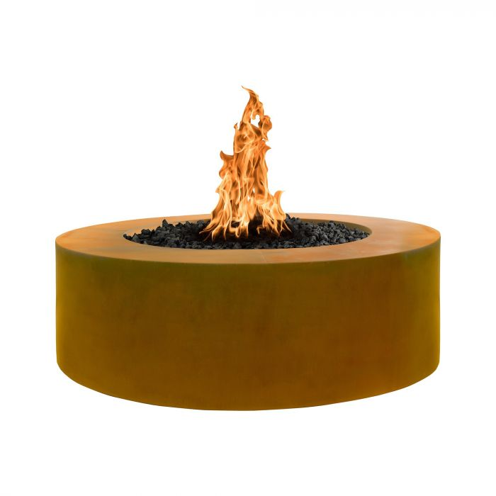 "The Outdoor Plus Unity Fire Pit - 18"" Tall - Corten Steel - Electronic Ignition 60"" OPT-RCRTN6018EKIT"