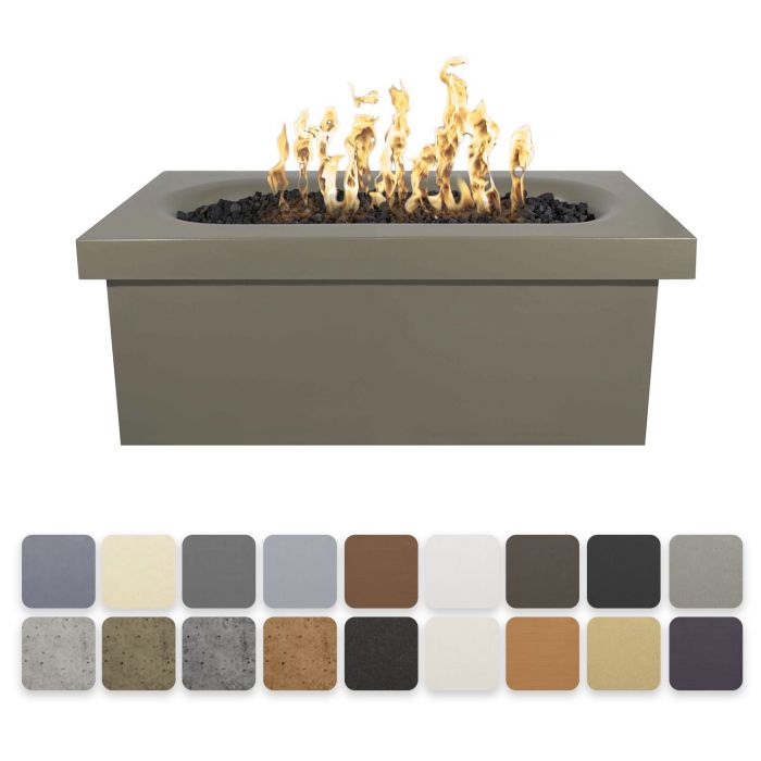 The Outdoor Plus Ramona Concrete Fire Table - Rectangular - Electronic Ignition OPT-RMNRT60EKIT