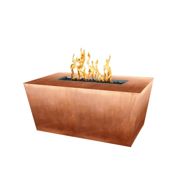 "The Outdoor Plus Mesa Fire Pit - Copper - Hammered Finish - Electronic Ignition 48"" OPT-CPRTT4824EKIT-HAMC"