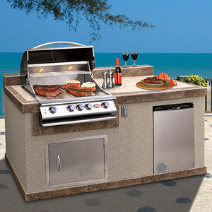 Cal Flame 74-inch Custom Pavilion BBQ Islands - PV6004
