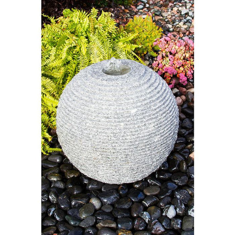 Blue Thumb Medium Ribbed Sphere - Granite Fountain Kit ABGSR20K - ProYardSupply