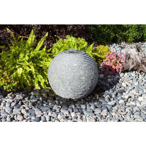 Blue Thumb Large Ribbed Sphere - Granite Fountain Kit ABGSR24K - ProYardSupply