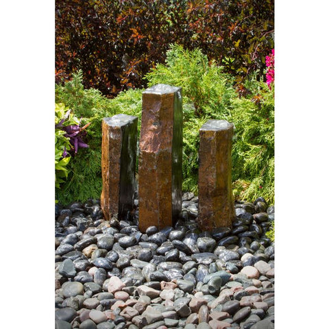 Blue Thumb Basalt Fountain Kit - Trinity Split Polished 3 Piece ABBC940 - ProYardSupply