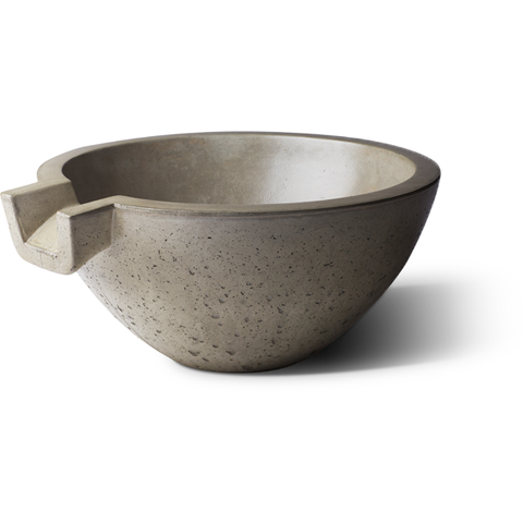 "Slick Rock Concrete 24"" Spill Classic Water Bowl with Stainless Steel Spillway KSPC2412SPSS"