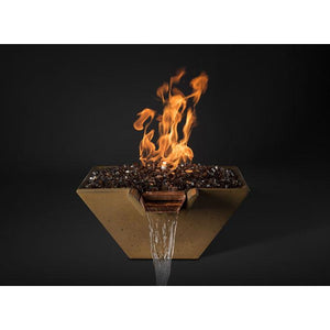 "Slick Rock Concrete 22"" Cascade Conical Fire On Glass - Natural Gas KCC22CPSCCEING"