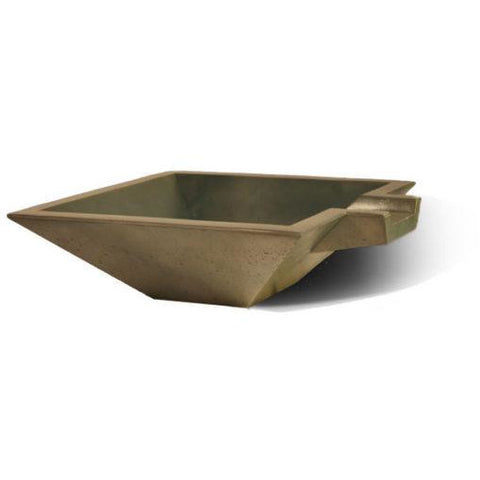 "Slick Rock Concrete 30"" Cascade Square Bowl + Copper Spillway  KSPS3010SPC"