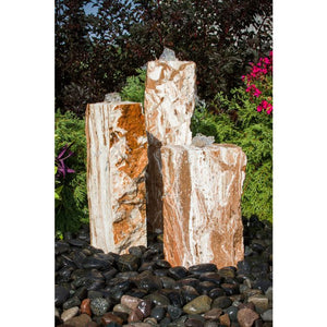 Blue Thumb Travertine Fountain Kit - Triple ABTV100 - ProYardSupply