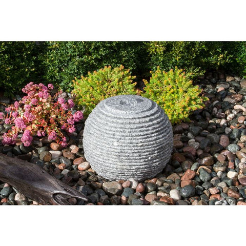 Image of Blue Thumb Small Ribbed Sphere - Granite Fountain Kit ABGSR16K - ProYardSupply
