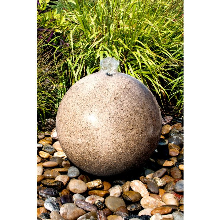 Blue Thumb 20″ Yellow Granite Sphere Fountain ABART4920 - ProYardSupply
